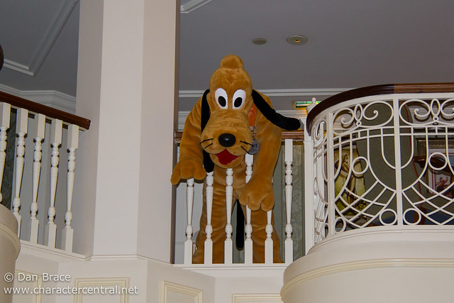 Pluto hangs out over the balcony from the Castle Lounge