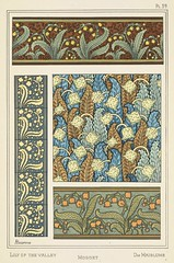 Lily of the valley, muguet, die mailblume. La plante et ses applications ornementales by Grasset, M.E. Art nouveau illustration by Aline Poidevin (1896)