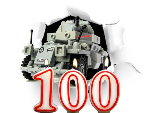 El diseño nº 100 de Panzerbricks