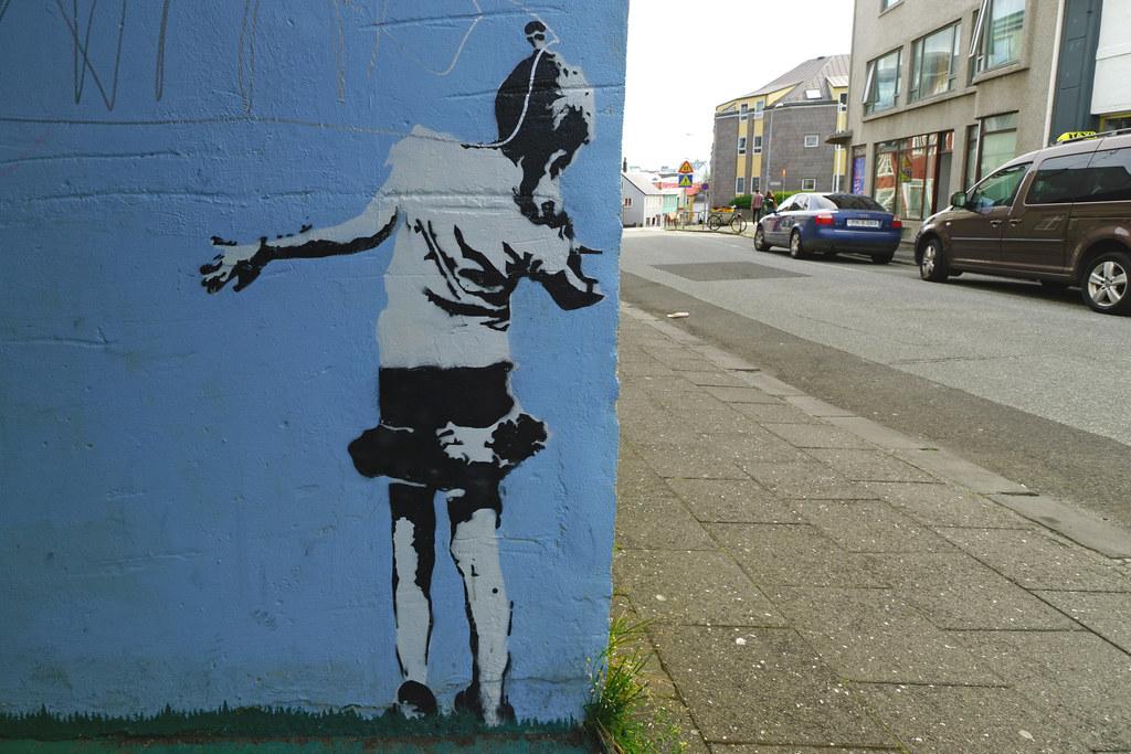 Banksy or Banksyesque In Reykjavik