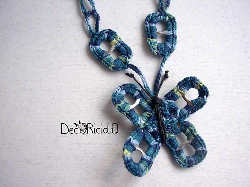 collana farfalla blu linguette lattine 2