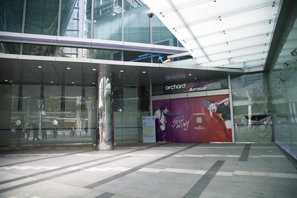 Don't miss the entrance to Orchard Gateway@Emerald; there's an M2 Academy standee there to guide you