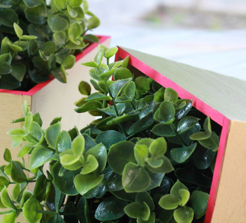 how to make a diy painted planter via Kristina J blog