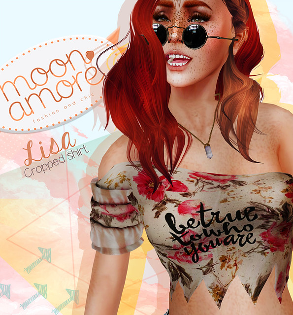 Moon Amore : Lisa Cropped shirt!