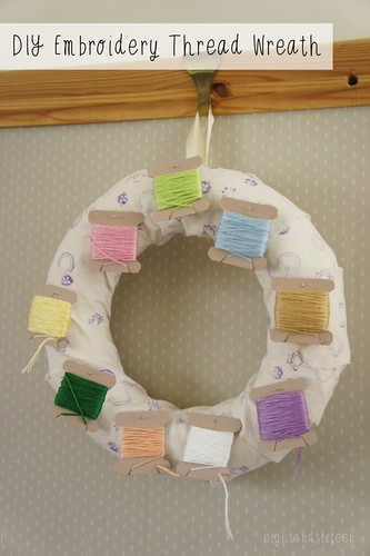 diy embroidery thread storage wreath crafts sewing eight and sixteen