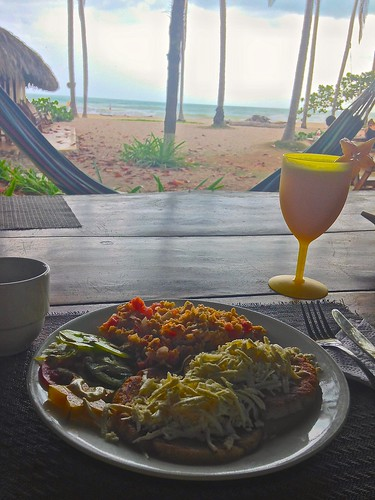 La Sirena is famous for their sizable breakfasts, also with a view