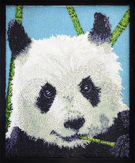 Jelly Belly Art: Giant Panda by Kristen Cumings from the Endangered Species Series, part of the Jelly Belly Art Collection