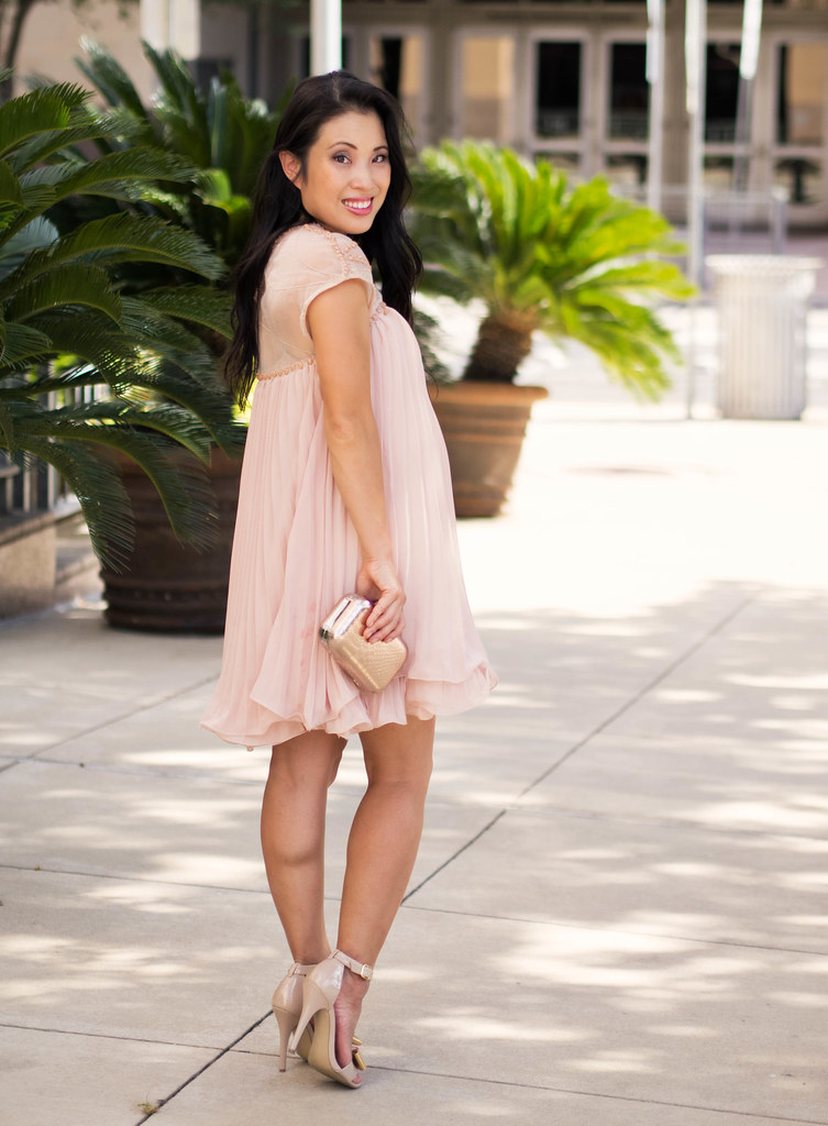 Beads   Pink Pleats // Maternity Summer Wedding Style - cute &amp little