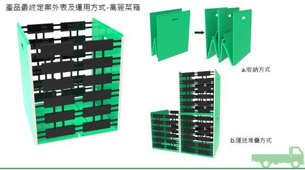 高麗菜箱的最終定案。圖片來源:綠粉絲