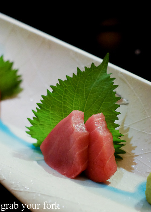 Chu-toro tuna sashimi at Sokyo at The Star, Pyrmont