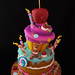 Whimsical Birthday cake by Andrea's SweetCakes