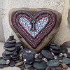 "Another ""Key to the Heart"" Mosaic/ Gardenstone"
