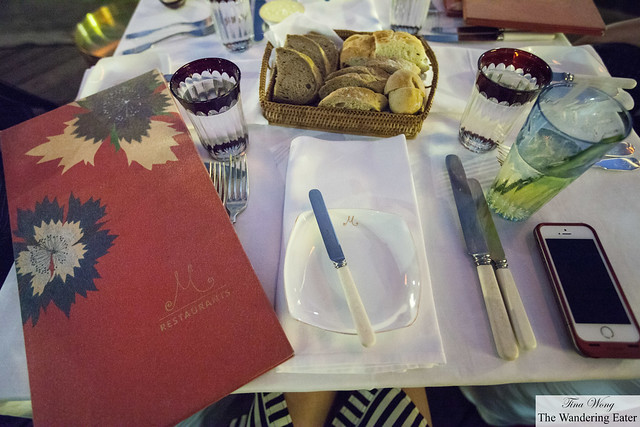 The menu and table setting