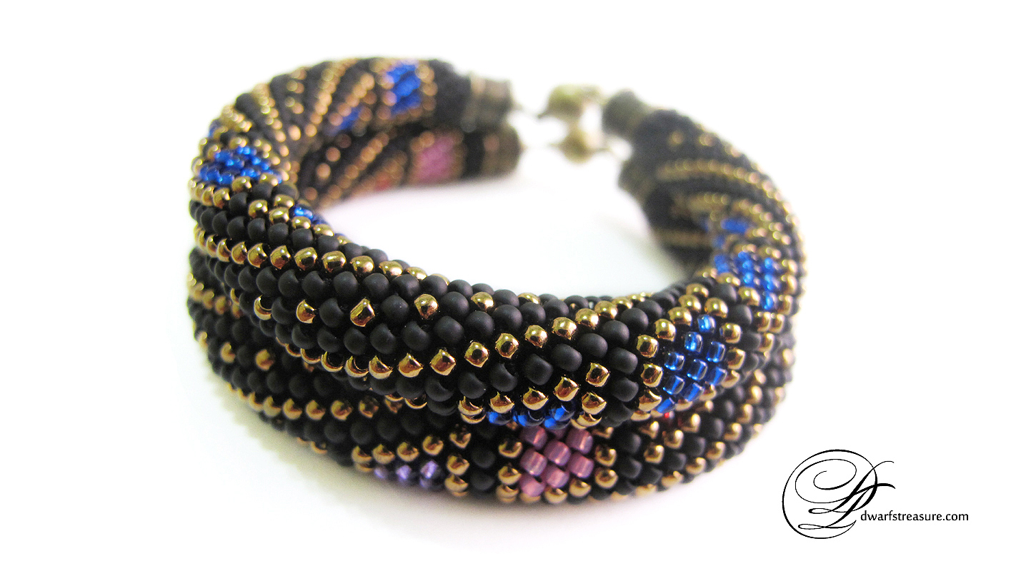 Fashionable multicolored glass bead custom bangles