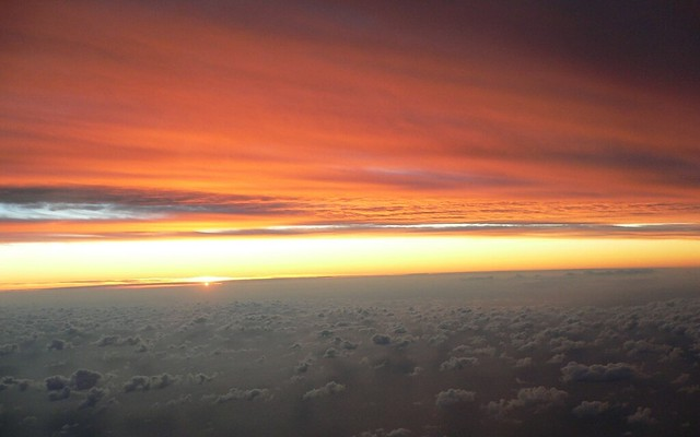 Sunset from sky