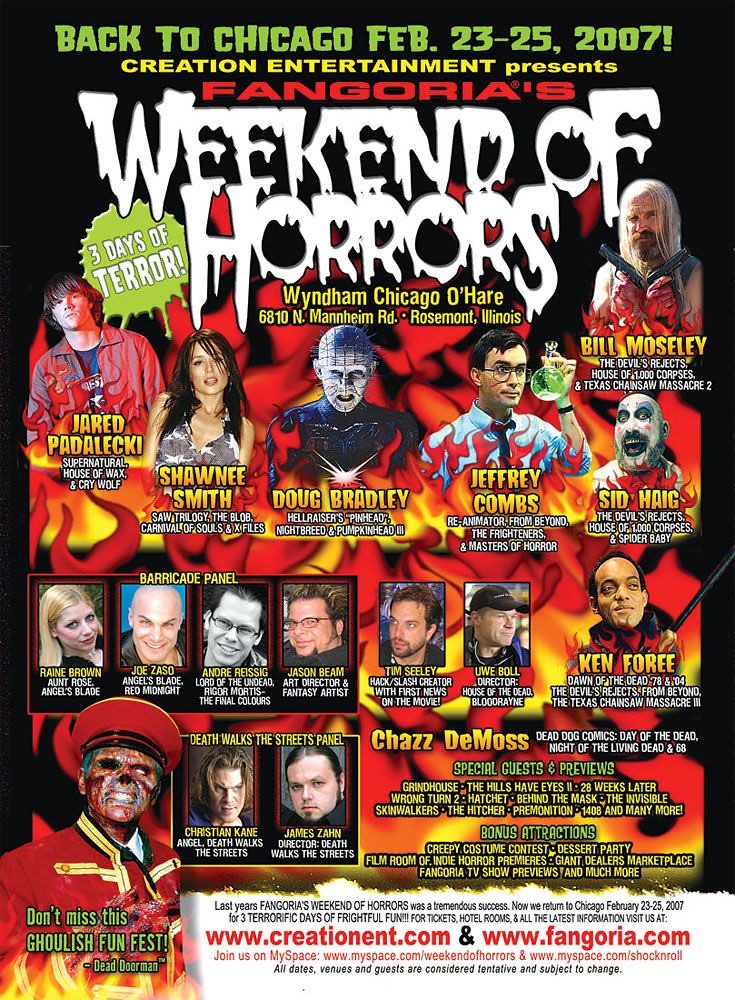 Weekend of Horrors 2007