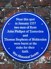 Photo of John Phillpot and Thomas Stephens blue plaque