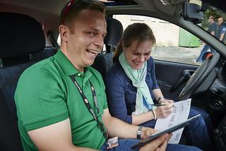Opel-Mitarbeiter Tobias Gärtner bei der Rallye Creme 21