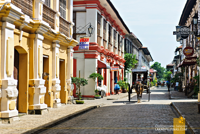 A Calesa at Calle Crisologo in Vigan City