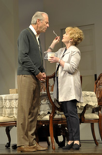 Will Lyman and Julia Duffy in the Huntington Theatre Company production of Todd Kreidler's compelling family comedy GUESS WHO'S COMING TO DINNER directed by David Esbjornson, playing Sept. 5 – Oct. 5, 2014 at the Avenue of the Arts / BU Theatre. Photo: Paul Marotta