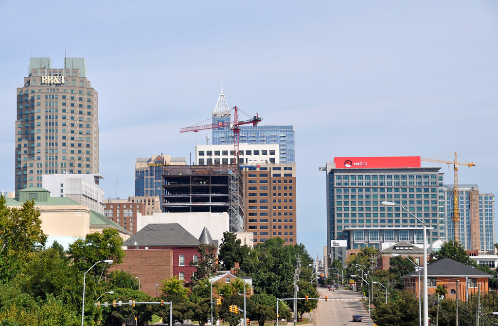 Raleigh New Skyline Shots New Buildings Venturing