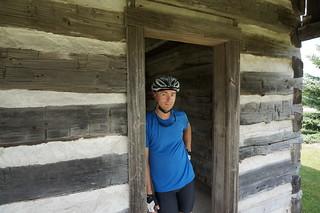 Alan at log cabin