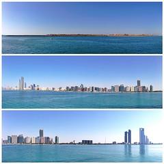Panorama views from Breakwater #InAbuDhabi