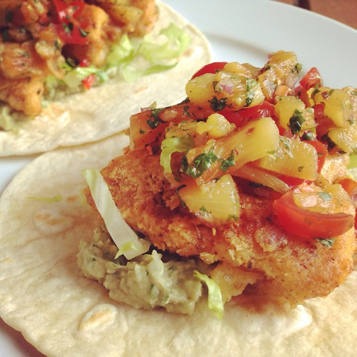 Grilled flounder fish tacos cook and post for Flounder fish tacos