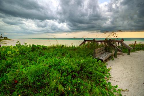 ocean sunset anna storm gulfofmexico clouds america mexico island gulf florida maria explore thunderstorm fl hdr annamariaisland