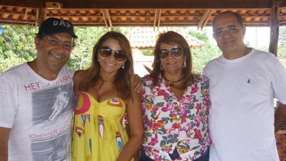 Roberto e Vera Branco com Vânia e Geraldo Pinheiro