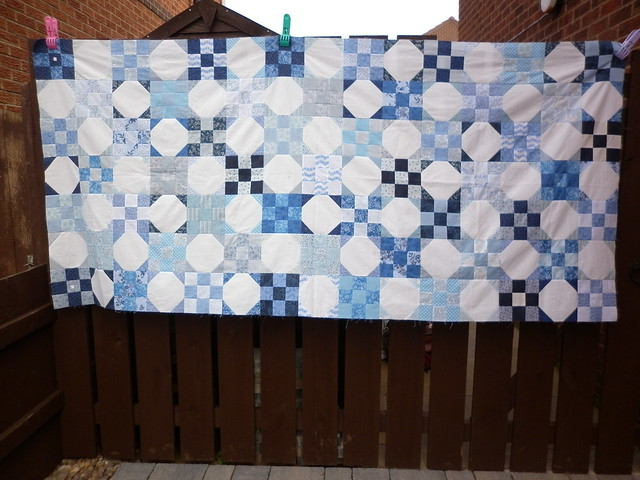 41% of the quilt top