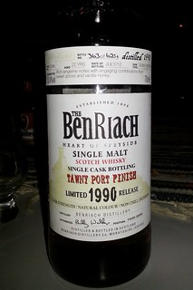 (30aug) The Benriach, 1990 release, Tawny Port finish