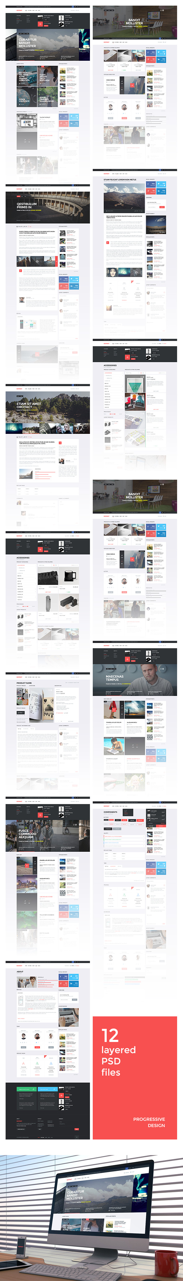 REPRINT | Magazine PSD Template
