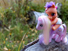 Baby Scootaloo Riding Fluttershy