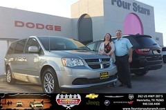 Congratulations to Pat & Edwinna Gilbert on your #Dodge #Grand Caravan purchase from Tracey Frerich at Four Stars Auto Ranch! #NewCar