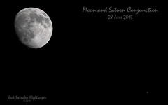 Moon and Saturn Conjunction on 28 June 2015