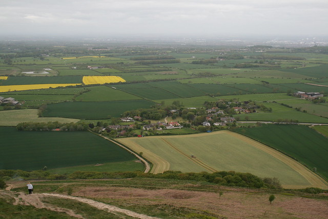 View down to Newton under Roseberry