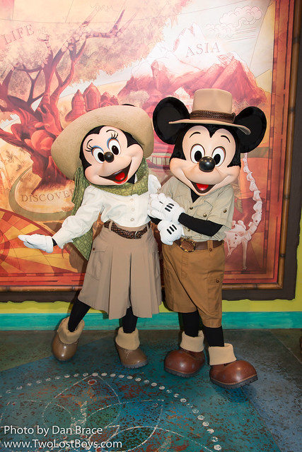 Meeting Mickey and Minnie Mouse