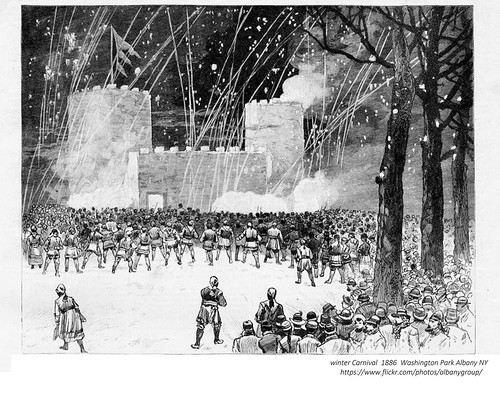 Winter Carnival Washington Park 1886 albany ny 1880s