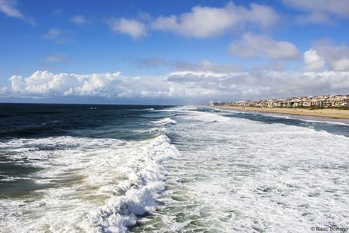uploadedviaflickrqcom sand beach water ocean clouds sky pier pacificocean manhattanbeach losangeles california canonrebelt4i