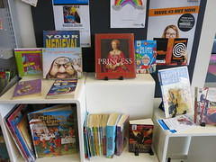 Display of Knights and Princesses books