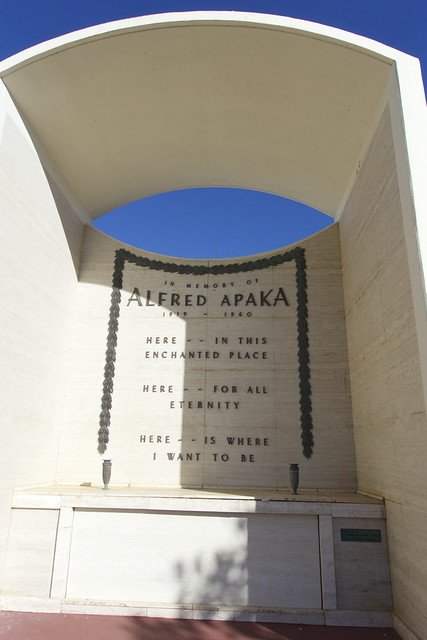 Resting place of Alfred Apaka, noted Hawaiian singer.