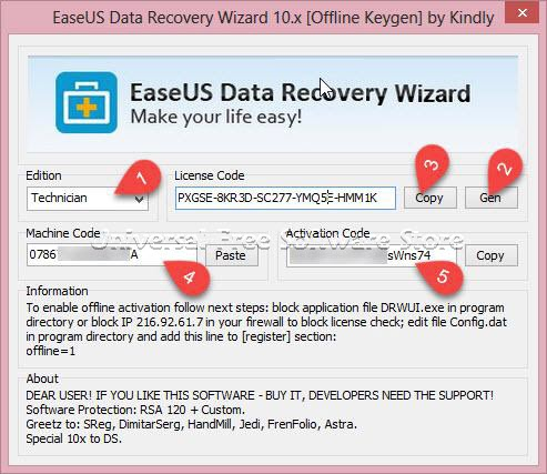 easeus data recovery keygen machine code compiler