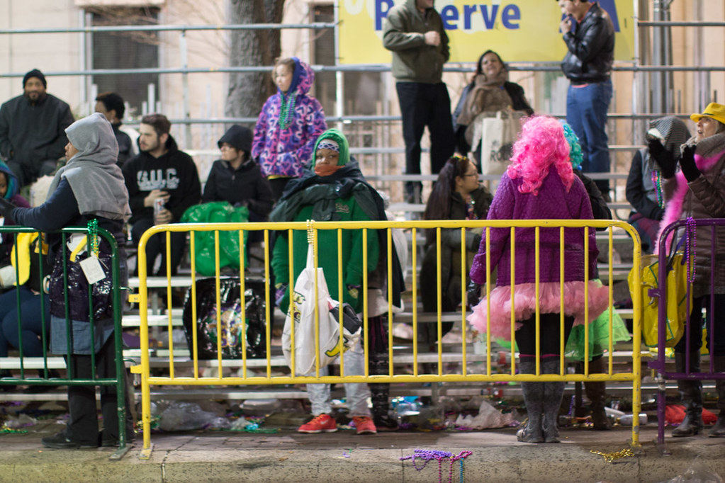 St. Charles Reserve A grandstands during Mardi Gras