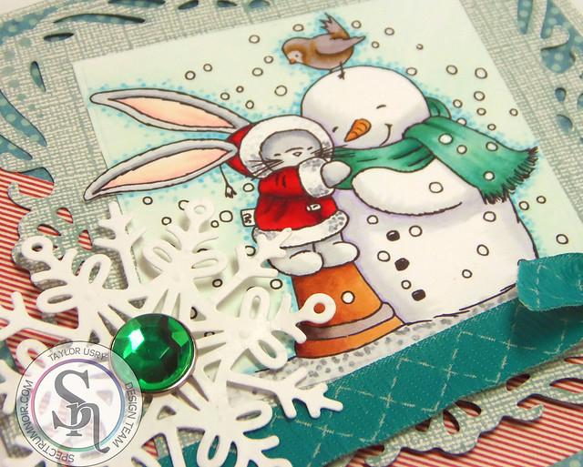 Snowy Hugs (closeup)