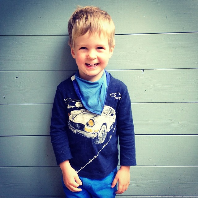 I think this blue business has gone to my head. I dressed him like this without even thinking! #capturingcolour #blue