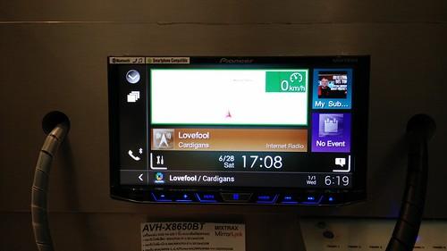 ใช้งาน GPS Navigator บน Pioneer AVH-X8650BT