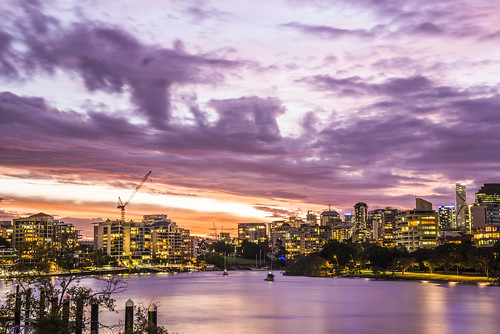 sunset sky clouds river boats brisbane brisbaneriver sunsetsandsunrisesgold cloudsstormssunsetssunrises