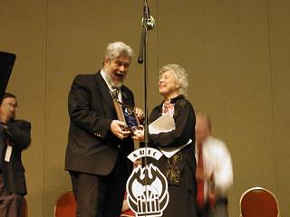 Joyce Leigh accepts the ARTC Lifetime Achievement Award