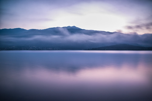 lake nature clouds purple earlymorning